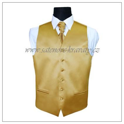 Pánská vesta zlatá