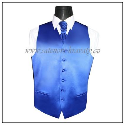 Pánská vesta královská modř