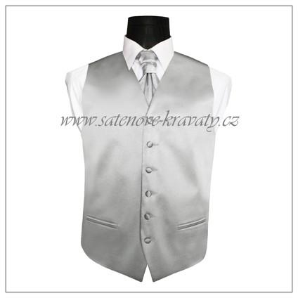 Pánská vesta tříbrná