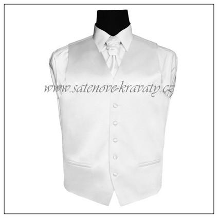 Pánská vesta bílá